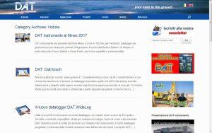 ON LINE IL NUOVO SITO DI DAT INSTRUMENTS - Perforare - DAT instruments datalogger perforazione - Aziende News 6