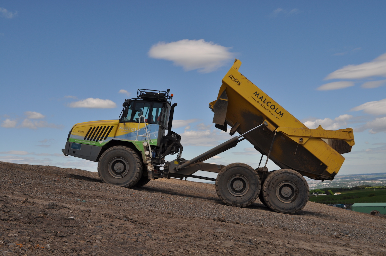 UN DUMPER TA300 DI TEREX TRUCKS PER MALCOM CONSTRUCTION - Perforare - DUMPER Malcom Construction TA300 Terex Trucks - Industria estrattiva-mineraria News