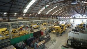 L'area della linea produttiva di Keestrack-OM di 5.000 mq