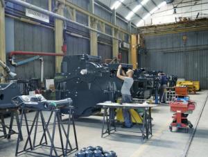 La produzione di un modello a cono inizia proprio con l'assemblaggio dell'unità frantumante