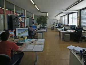 L'ufficio tecnico e di progettazione di Ponzano