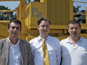 Da sinistra, Teseo di Nardo (Sales Manager), Peter Hoogendoorn (Direttore) e Tiziano Zago (Production Manager)