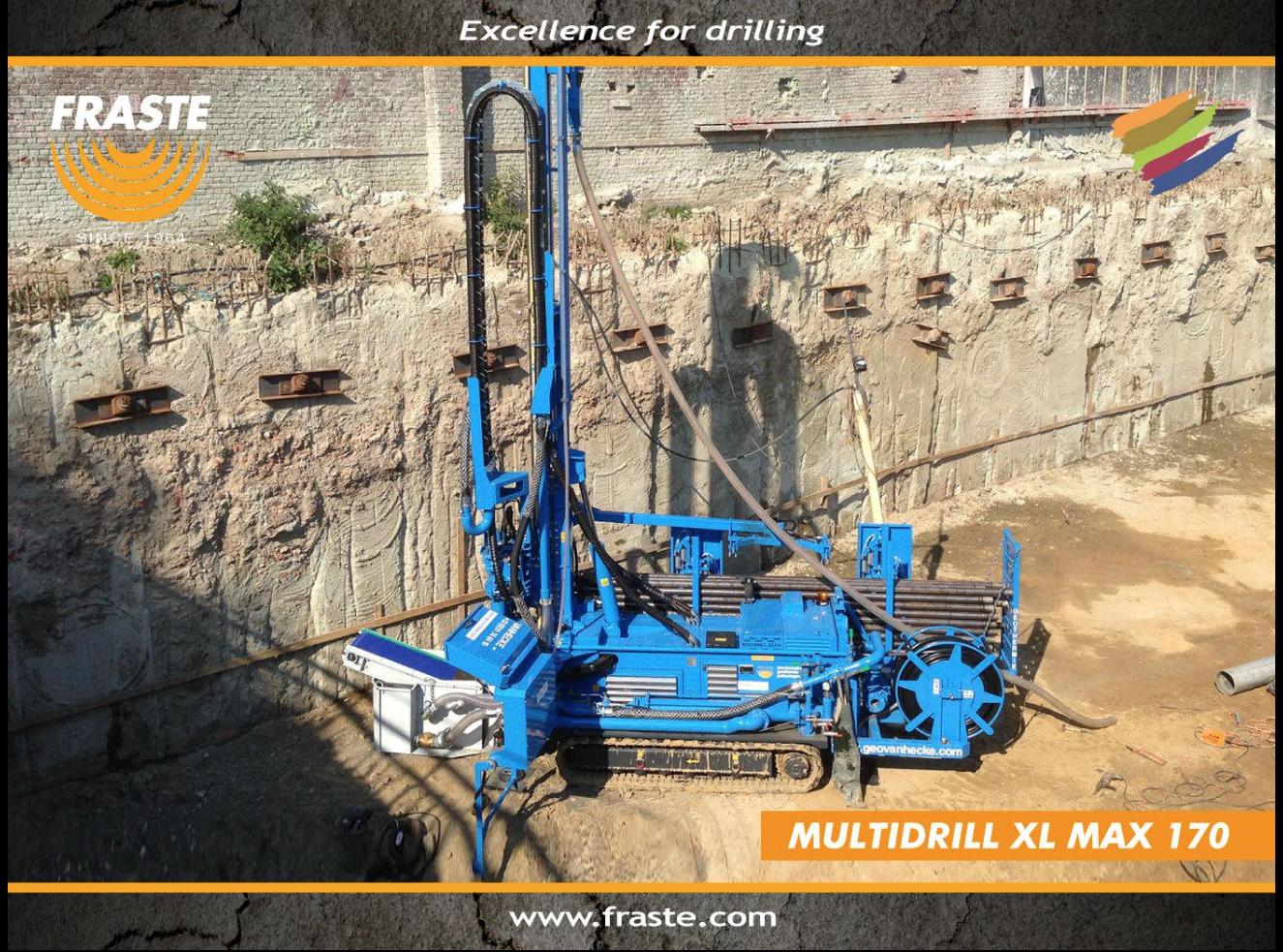 LA VERSATILE MULTIDRILL XL MAX 170 DI FRASTE - Perforare - carotaggi consolidamenti FRASTE indagini geognostiche micro-pali Multidrill XL MAX 170 pozzi - News Perforazioni 1