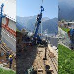 Una Soilmec SM-9 al lavoro in Valtellina