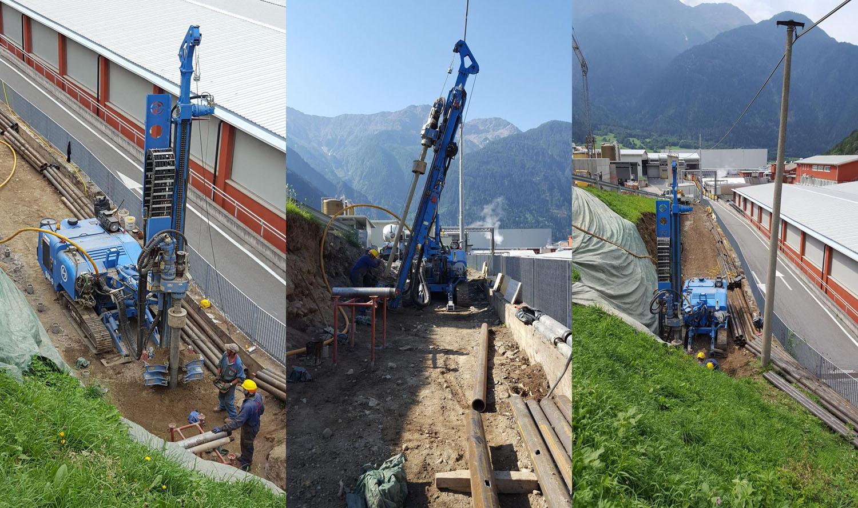 Una Soilmec SM-9 al lavoro in Valtellina - Perforare -  - Uncategorized