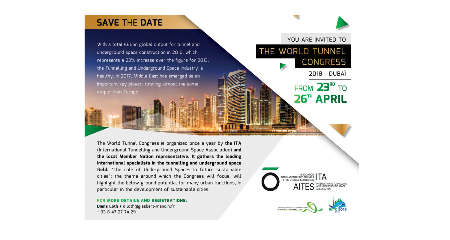 WORLD TUNNEL CONGRESS 2018 - Perforare - ITA-AITES World Tunnel Congress - Eventi News Tunnelling