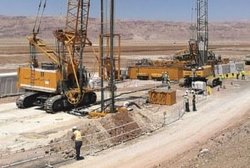 Risanamento di diaframmi per la produzione di sali di potassio in Giordania