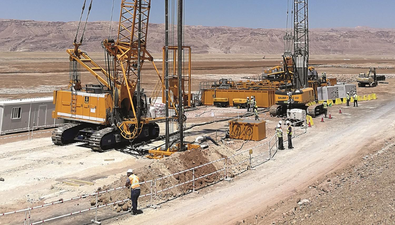 Risanamento di diaframmi per la produzione di sali di potassio in Giordania - Perforare -  - Fondazioni speciali Geotecnica&Geognostica Industria estrattiva-mineraria Macchine per diaframmi Miniere